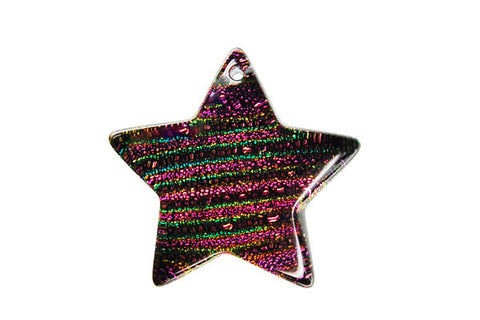 Pendant Dichroic Glass Star (VR-30)