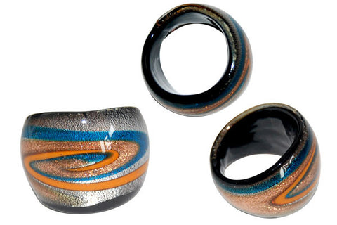 Murano Foil Glass Ring (R1)