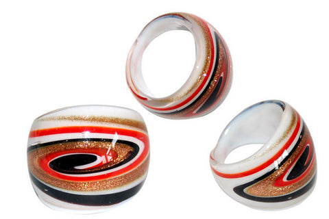 Murano Foil Glass Ring (R10)