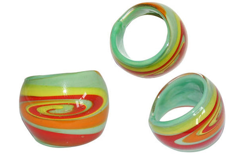 Murano Foil Glass Ring (R12)