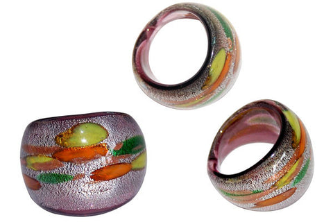 Murano Foil Glass Ring (R13)