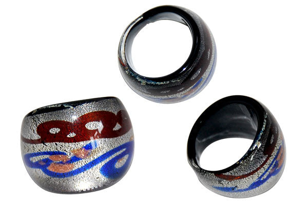 Murano Foil Glass Ring (R15)