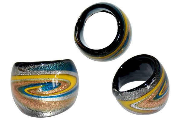 Murano Foil Glass Ring (R16)