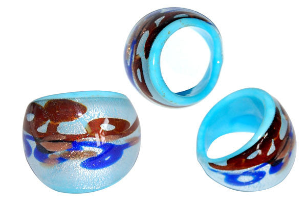 Murano Foil Glass Ring (R18)