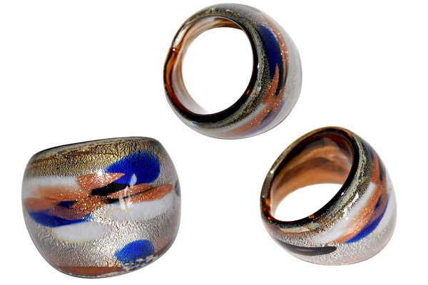 Murano Foil Glass Ring (R2)