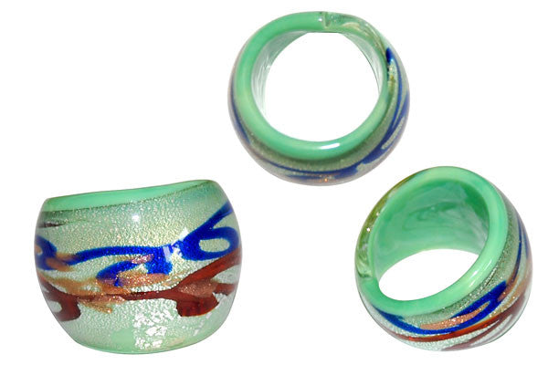 Murano Foil Glass Ring (R7)