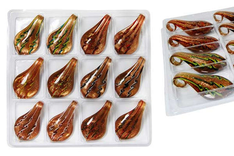 Pendant Murano Foil Glass Value Pack (Smooth leaf XDB2)
