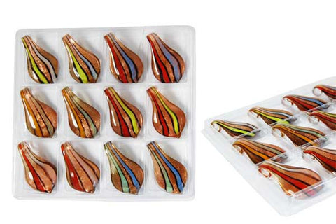 Pendant Murano Foil Glass Value Pack (Smooth leaf YHC0)