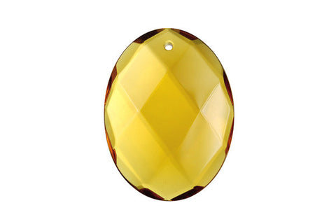 Pendant Citrine Quartz Faceted Flat Oval