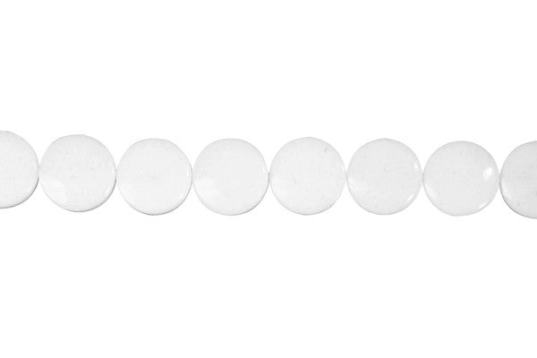 White Marble Coin Beads