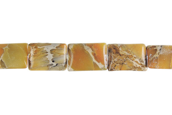 Aqua Terra Jasper Flat Rectangle (BB) Beads