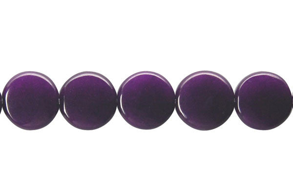 Colored Jade (Amethyst) Button Beads