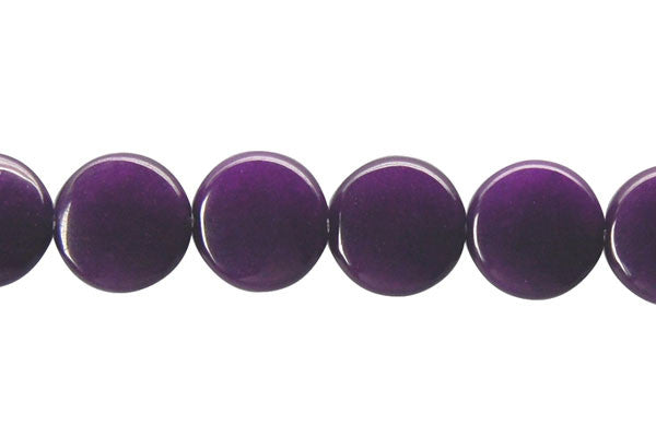 Colored Jade (Amethyst) Coin Beads