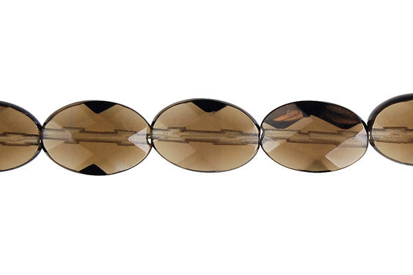 Smoky Quartz Faceted Flat Oval