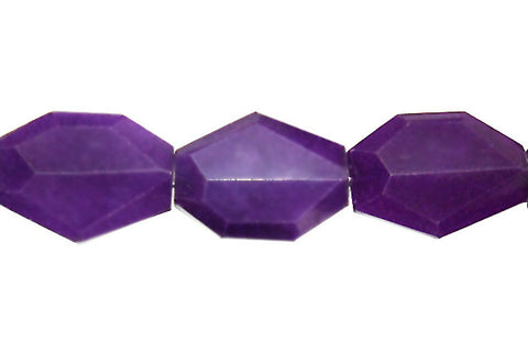 Colored Jade (Amethyst) Faceted Slab Beads