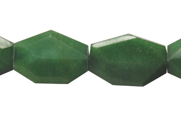 Colored Jade (Green) Faceted Slab Beads