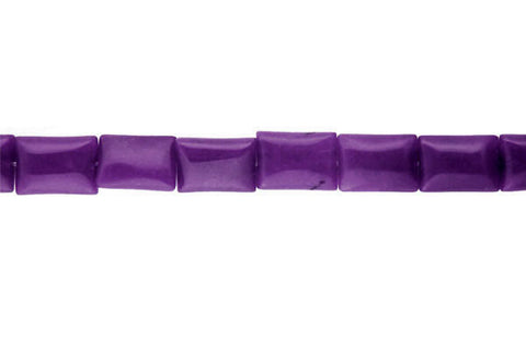 Colored Jade (Amethyst) Flat Rectangle Beads