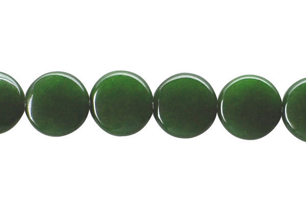 Colored Jade (Green) Coin Beads
