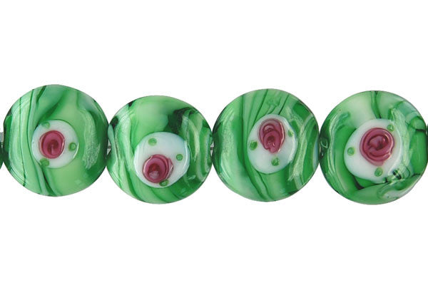 Art Foil Glass Button (A3 Green)