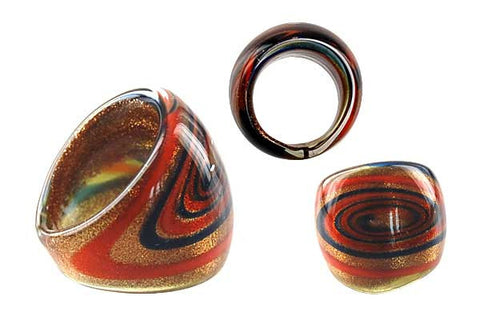 Murano Foil Glass Ring (R24)