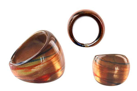 Murano Foil Glass Ring (RC04)