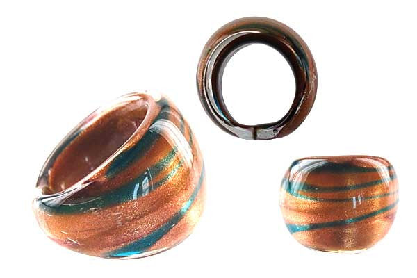 Murano Foil Glass Ring (RC05)