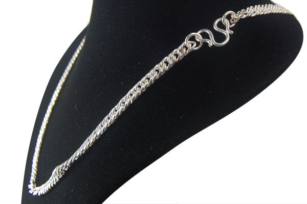 Sterling Silver Flat Curb Necklace, 24""