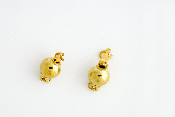 Gold-Plated Bead Clasp, 8.0x14.0mm