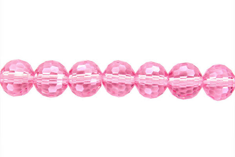 Chinese Crystal (Pink) Faceted Round