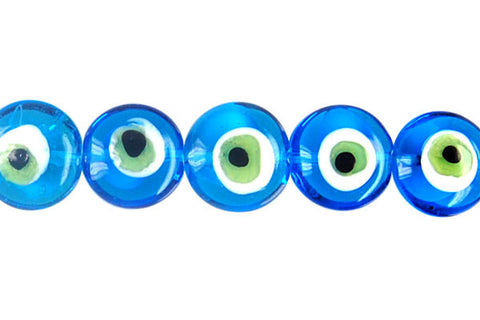Art Foil Glass Button Eye (Sky Blue)