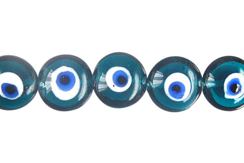 Art Foil Glass Button Eye (Green)