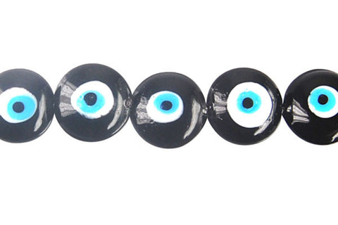 Art Foil Glass Button Eye (Black)
