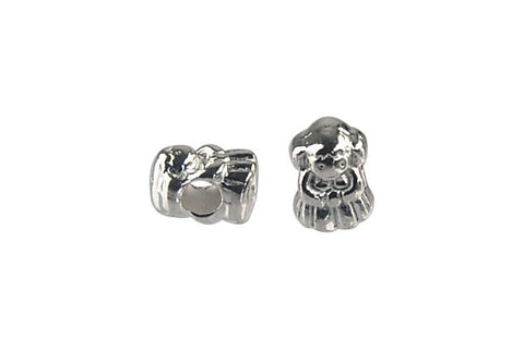 Metal Alloy Beads Girl (Silver) 10x13mm