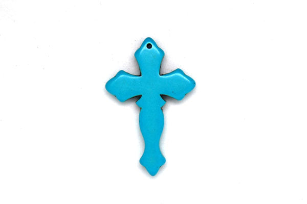 Howlite (Turquoise) Cross Style 2