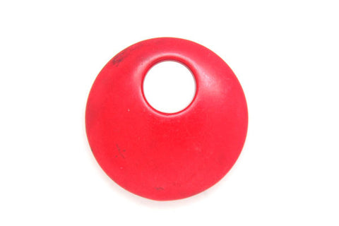 Howlite (Red) Donut Top Hole