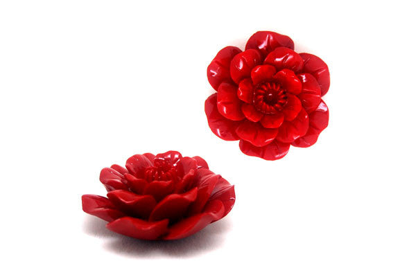 Pendant Synthetic Coral (Red) Flower