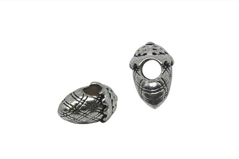 Metal Alloy Beads Acorn (Antique Silver), 10x15mm