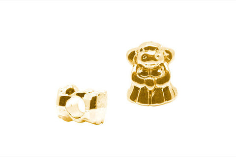 Metal Alloy Beads Girl (Gold), 9x12mm