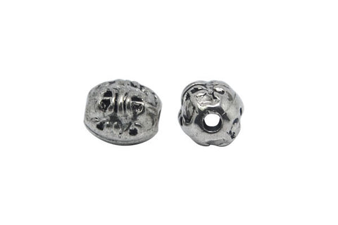 Acrylic Beads CCB, Barrel (Antique Silver), 6x7mm