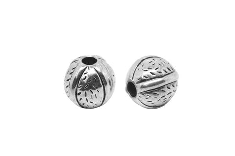 Acrylic Beads CCB, Round (Antique Silver), 14x15mm