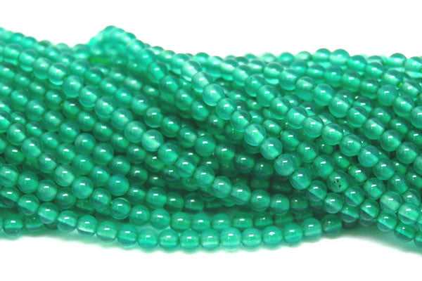 Agate (Green) Round Beads