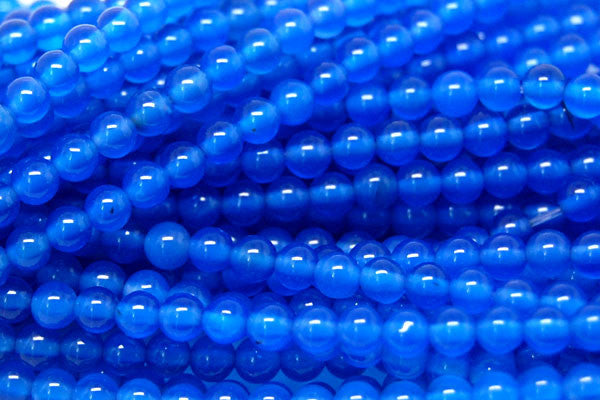 Agate (Blue) Round Beads
