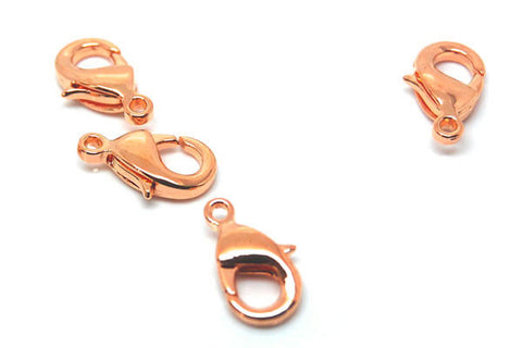 Copper-Plated Oval Trigger Clasp, 7x12mm
