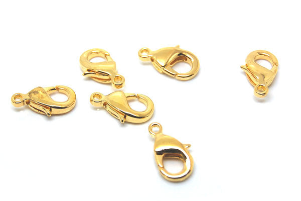 Gold-Plated Oval Trigger Clasp, 6x10mm