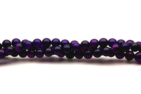 Agate (Purple) Round Beads