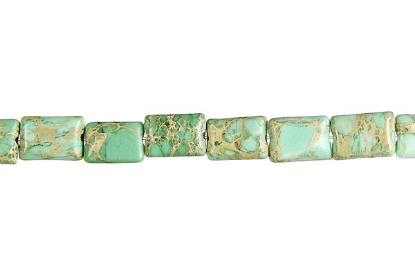 Aqua Terra Jasper (Turquoise) Flat Rectangle Beads