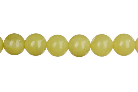 Olive Jade (Light) Round (Light) Beads