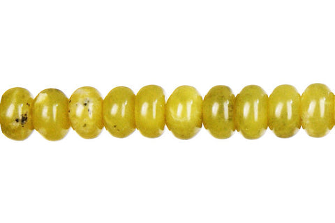 Olive Jade (Light) Rondelle (Dark) Beads