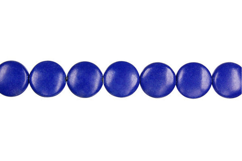 Lapis (Dyed) Coin Beads