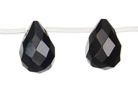 Black Onyx (AAA) Faceted Briolette Beads